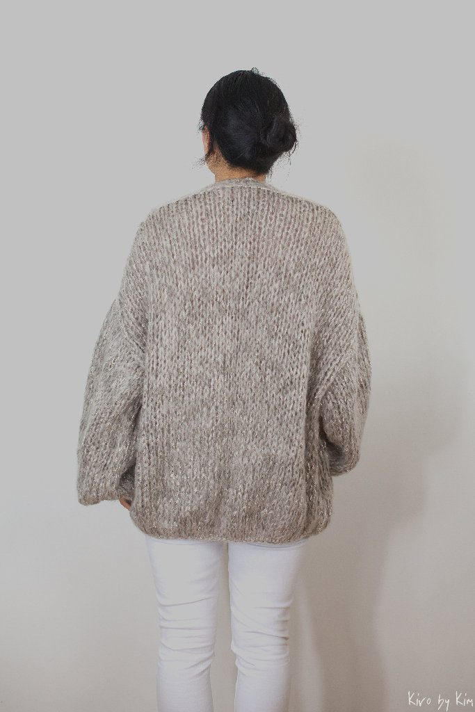 Beige oversized knit Kiro by Kim