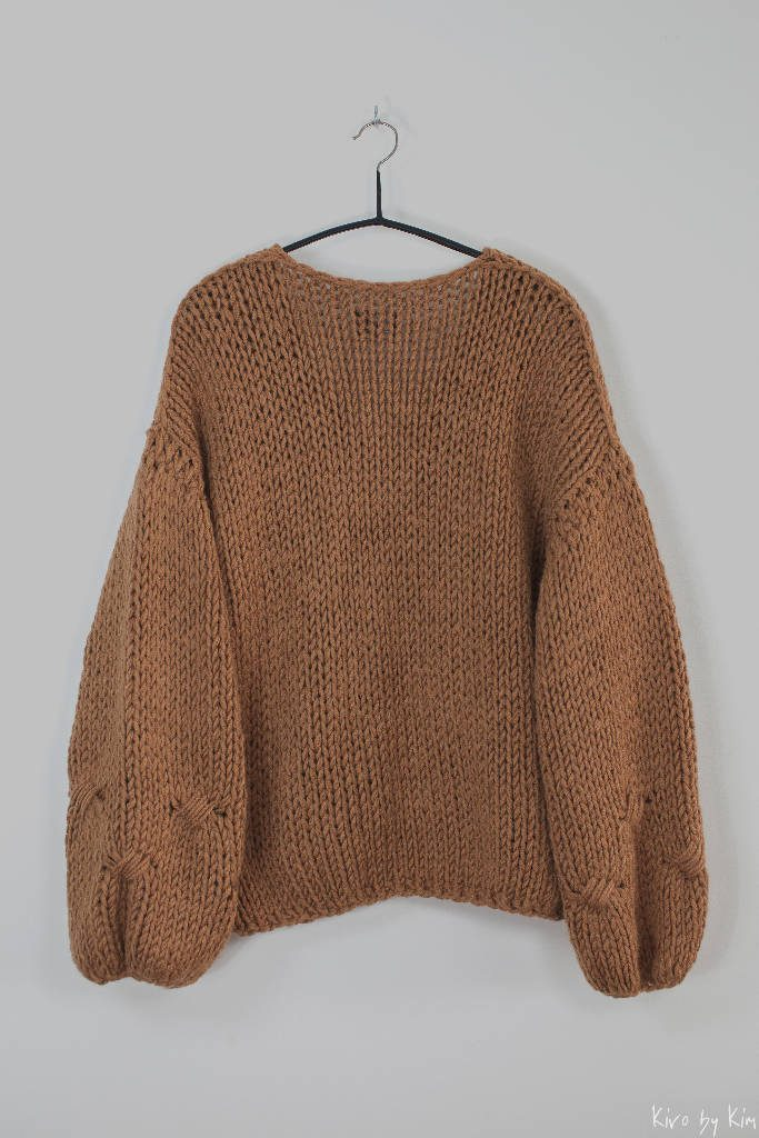 Camel oversized knitted sweater Kiro by Kim