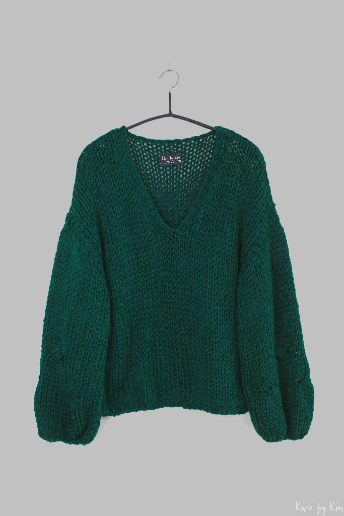 Dark green knitted sweater Kiro by Kim