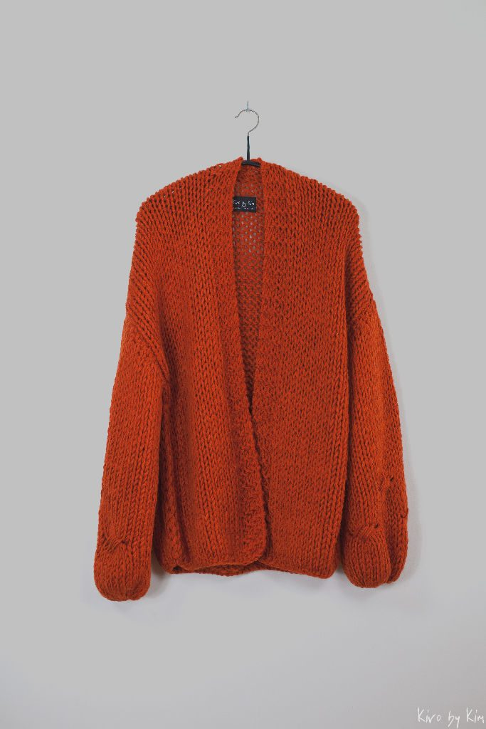 Dark orange oversized knit Kiro by Kim