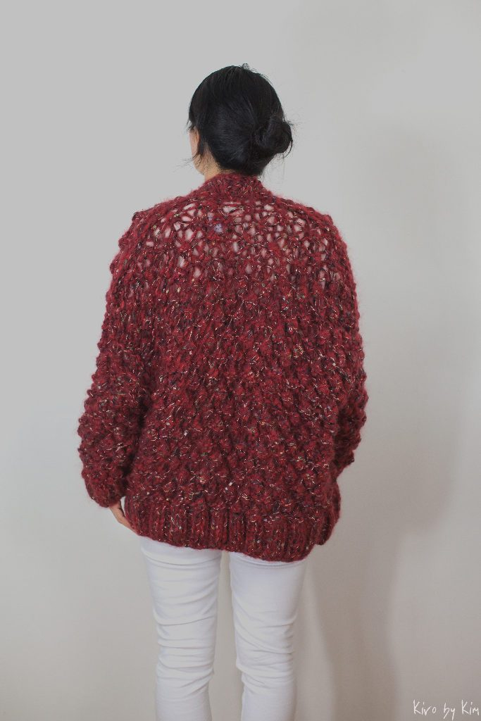 Dark red and burnt orange knit Kiro by Kim