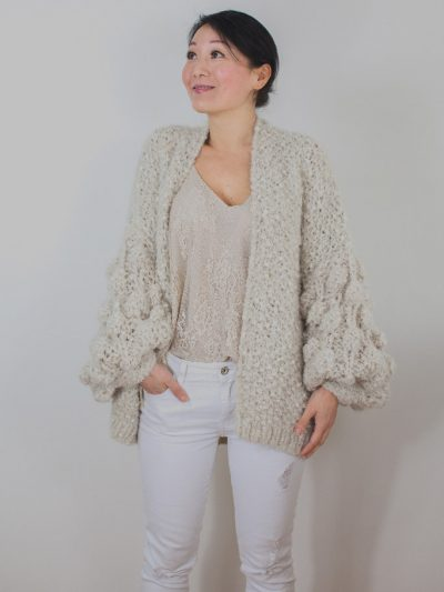 Ecru and gold soft knit Kiro by Kim