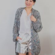 Grey with colors loose knit Kiro by Kim