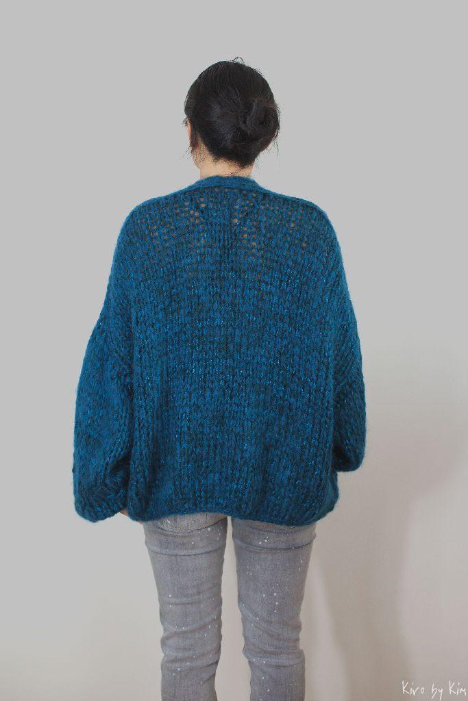 Petrol oversized knit Kiro by Kim