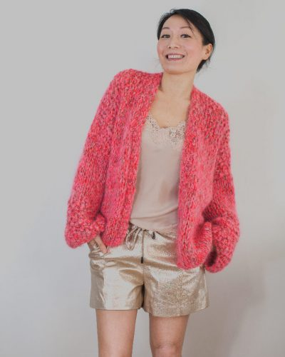 Red and pink knit Kiro by Kim