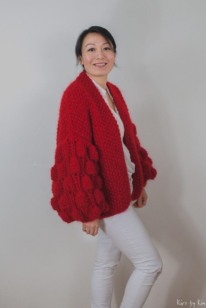 Red knit Kiro by Kim