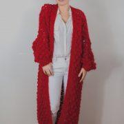 Red long knit Kiro by Kim