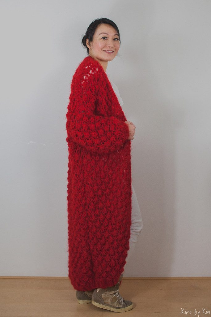 Red long knit Kiro by Kim