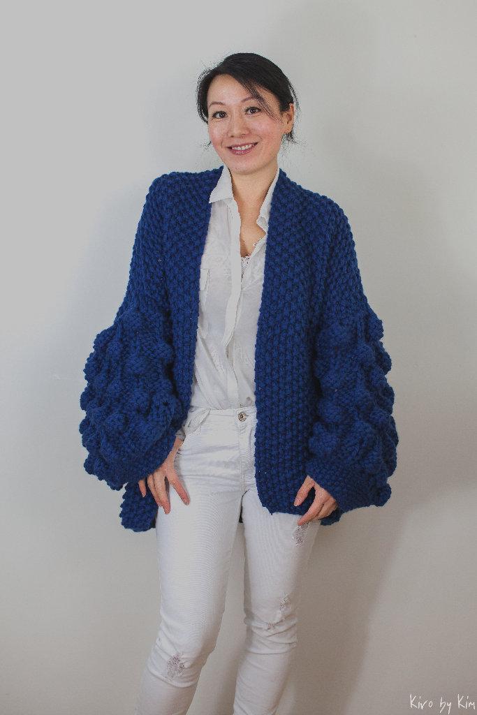 Royal blue knit Kiro by Kim