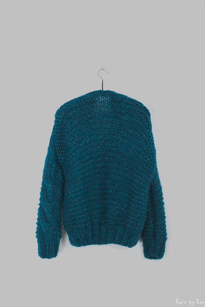Emerald green short knit Kiro by Kim
